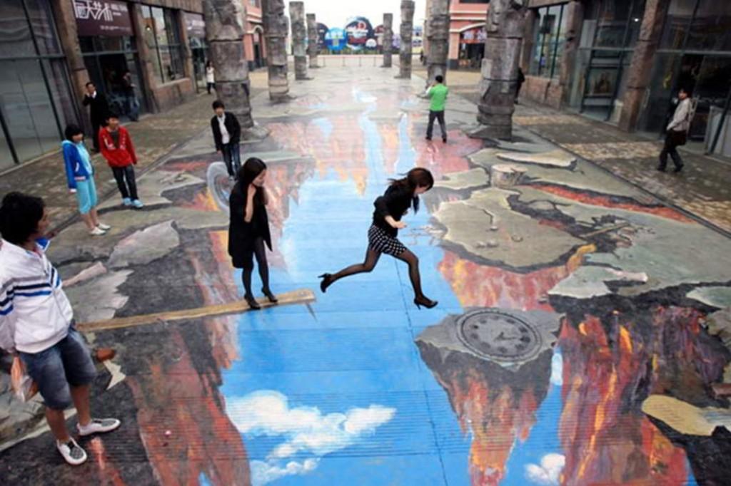 Ne touchez pas, sautez dans le Street-Art en 3D