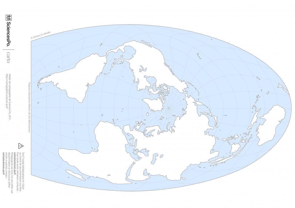 Carte du monde en projection Atlantis orientée pour l'Asie