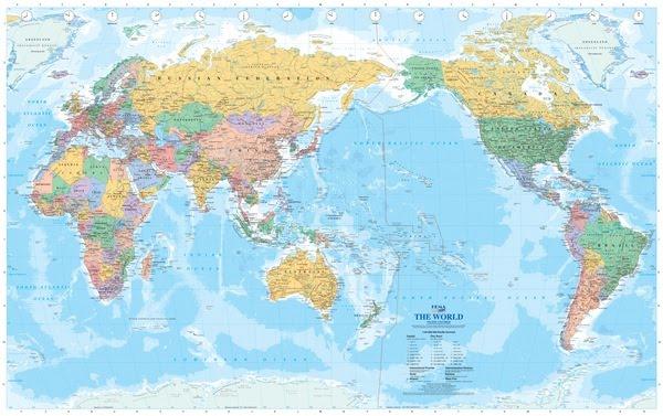 Carte Du Monde Centrée Sur L Asie | casamagenta