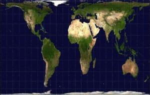 Carte du monde en projection de Peters