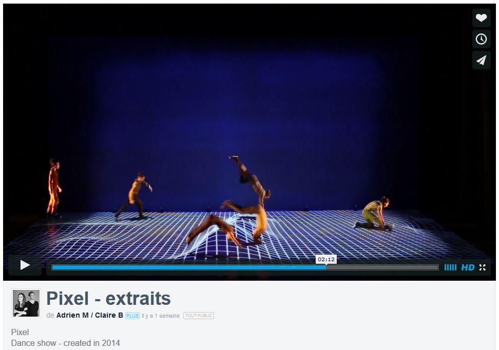 Pixel: incroyable spectacle de danse et animation 3D